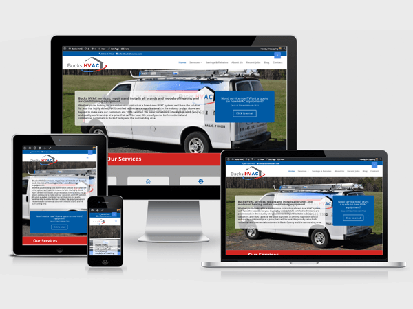 HVAC WordPress Website Design, Doylestown PA
